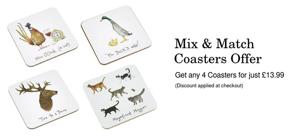 Mix and match coasters