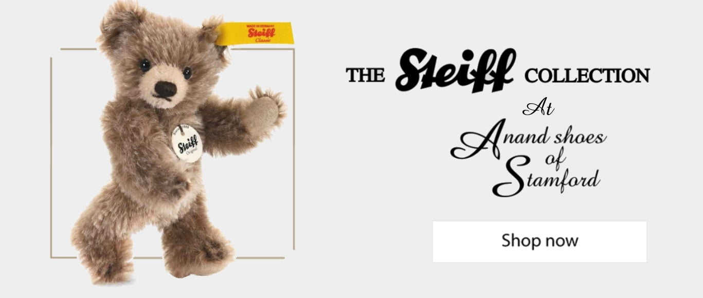 The Steiff Collection at Anand Shoes of Stamford