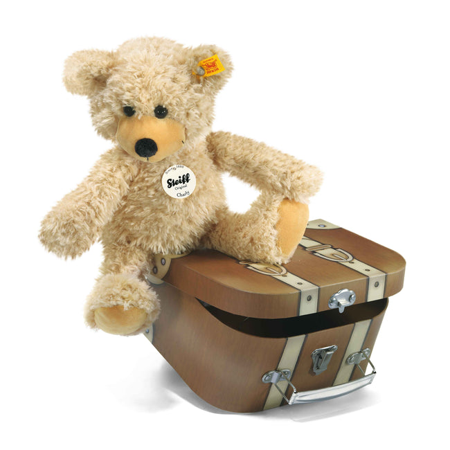 Steiff Charly Dangling Teddy Bear in Suitcase - EAN 012938