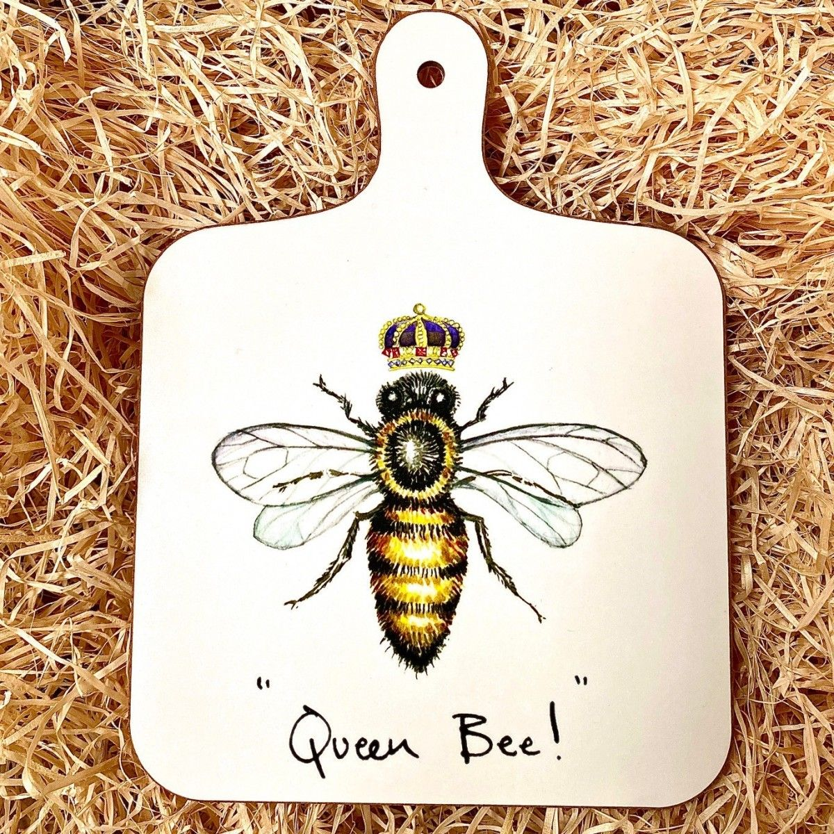 """Queen Bee!"" Mini Chopping Board"