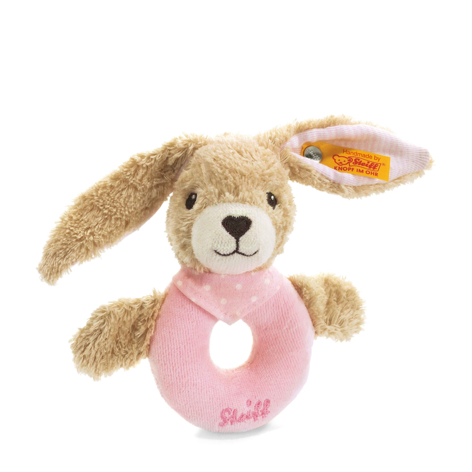 Steiff Hoppel Rabbit Grip Toy with Rattle - EAN 237591