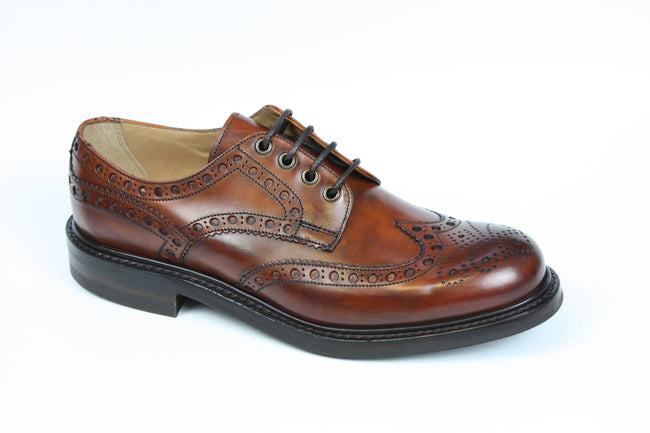 Cheaney Avon R Country Brogue in Dark Leaf Calf Leather