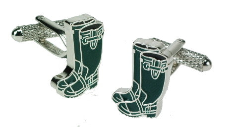 Green Wellies Cufflinks