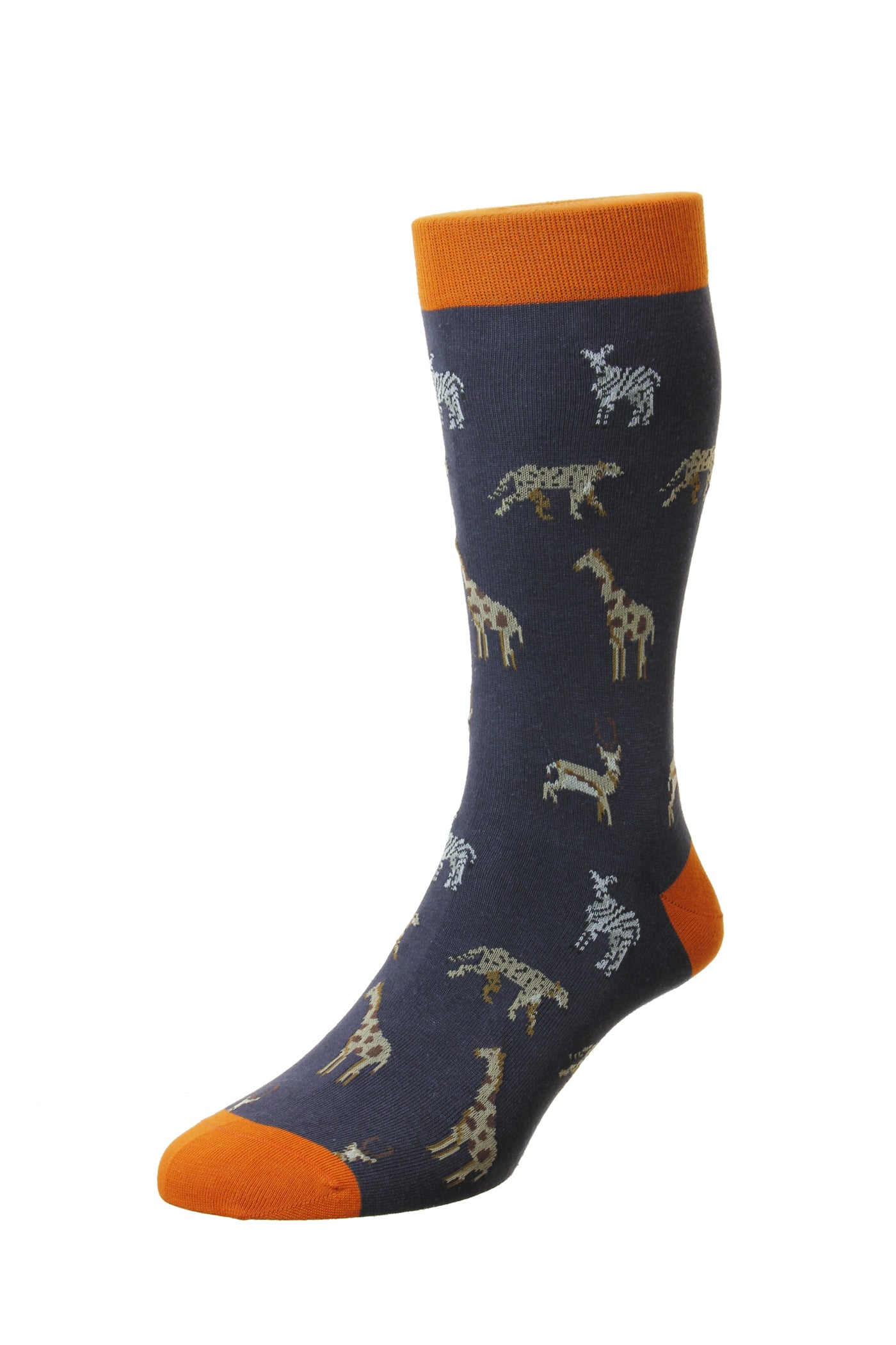 Schott Nichol by Pantherella - Serengeti - Navy Socks