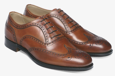 Cheaney Amelia Almond Grain with Maracca Suede