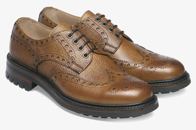 Cheaney Avon C Country Brogue in Almond Grain Leather