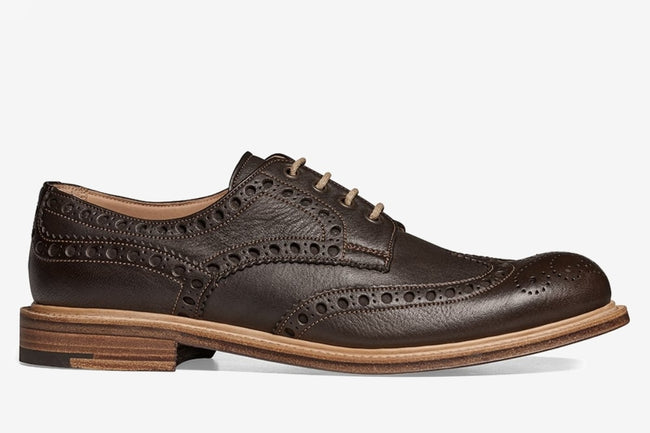 Cheaney Avon Wingcap Country Brogue in Dark Brown Deerskin