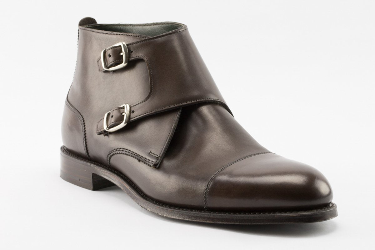 Cheaney Freeman Double Buckle Boot in Mocha
