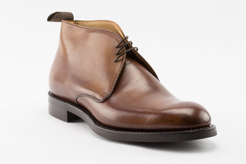 Cheaney Jackie III R Chukka Boot in Mahogany Grain