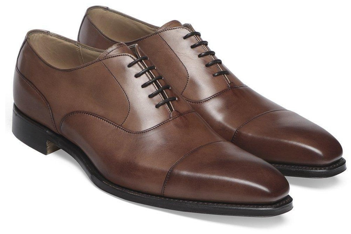 Cheaney Warwick Capped Oxford in Espresso Calf Leather