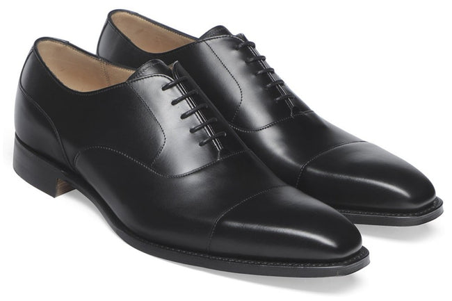 Cheaney Warwick in Black Calf Leather