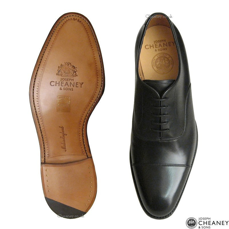 Cheaney Lime Classic Oxford in Black Calf