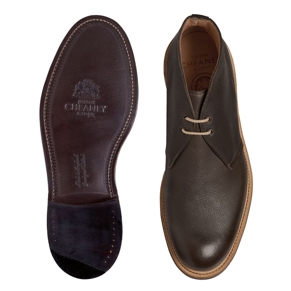 Cheaney Dexter II Chukka Boot in Brown Deerskin