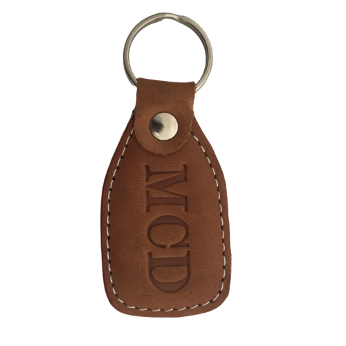 Personalised Embossed Leather Key Ring