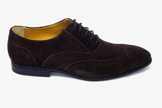 Steptronic Finchley in Dark Brown Suede