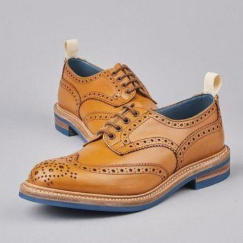 Cheaney Edwin Two Tone Oxford Brogue in Conker & Fox Suede