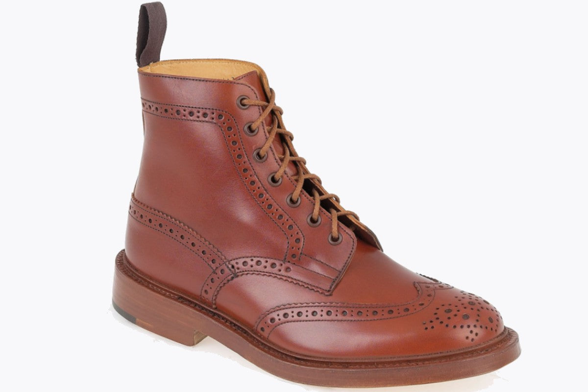 Tricker's Stow Country Boot in Marron Antique