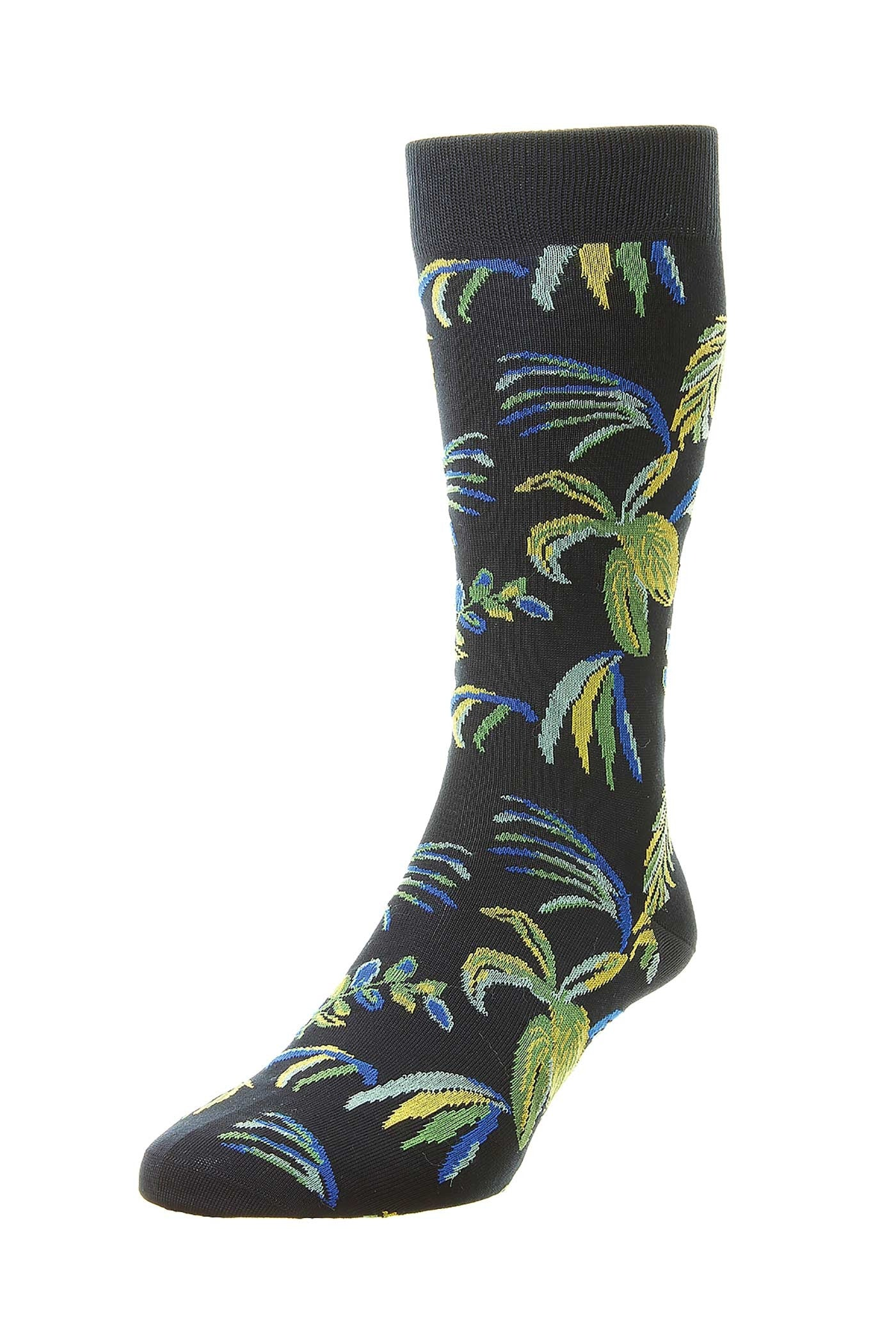Pantherella Tuvalu - Tropical Leaves Cotton Lisle Socks