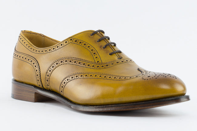 Cheaney Maisie Ladies Wingcap Oxford Brogue in Original Chestnut Calf Leather