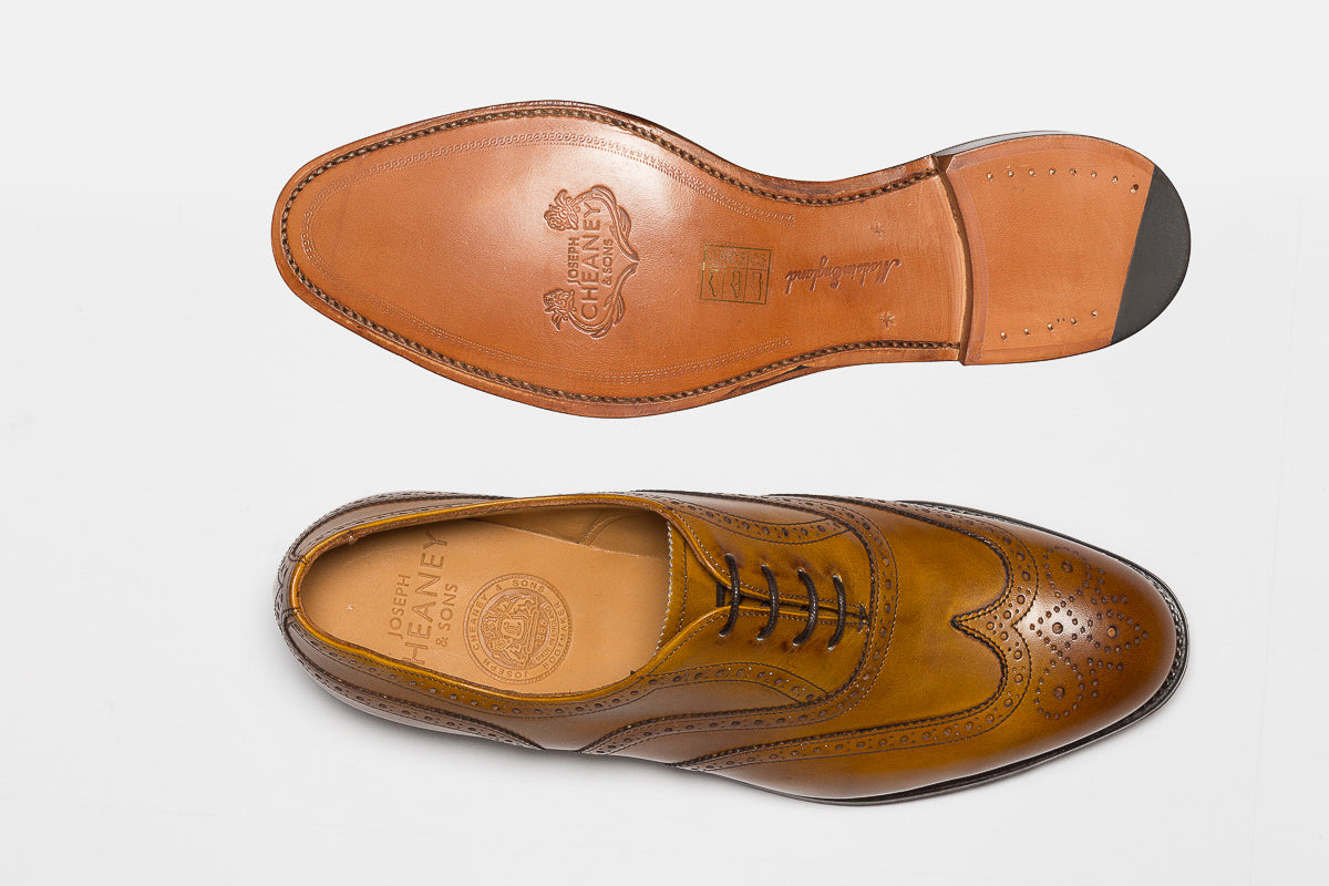 bc38b10334630 ... Cheaney Maisie Ladies Wingcap Oxford Brogue in Original Chestnut Calf  Leather