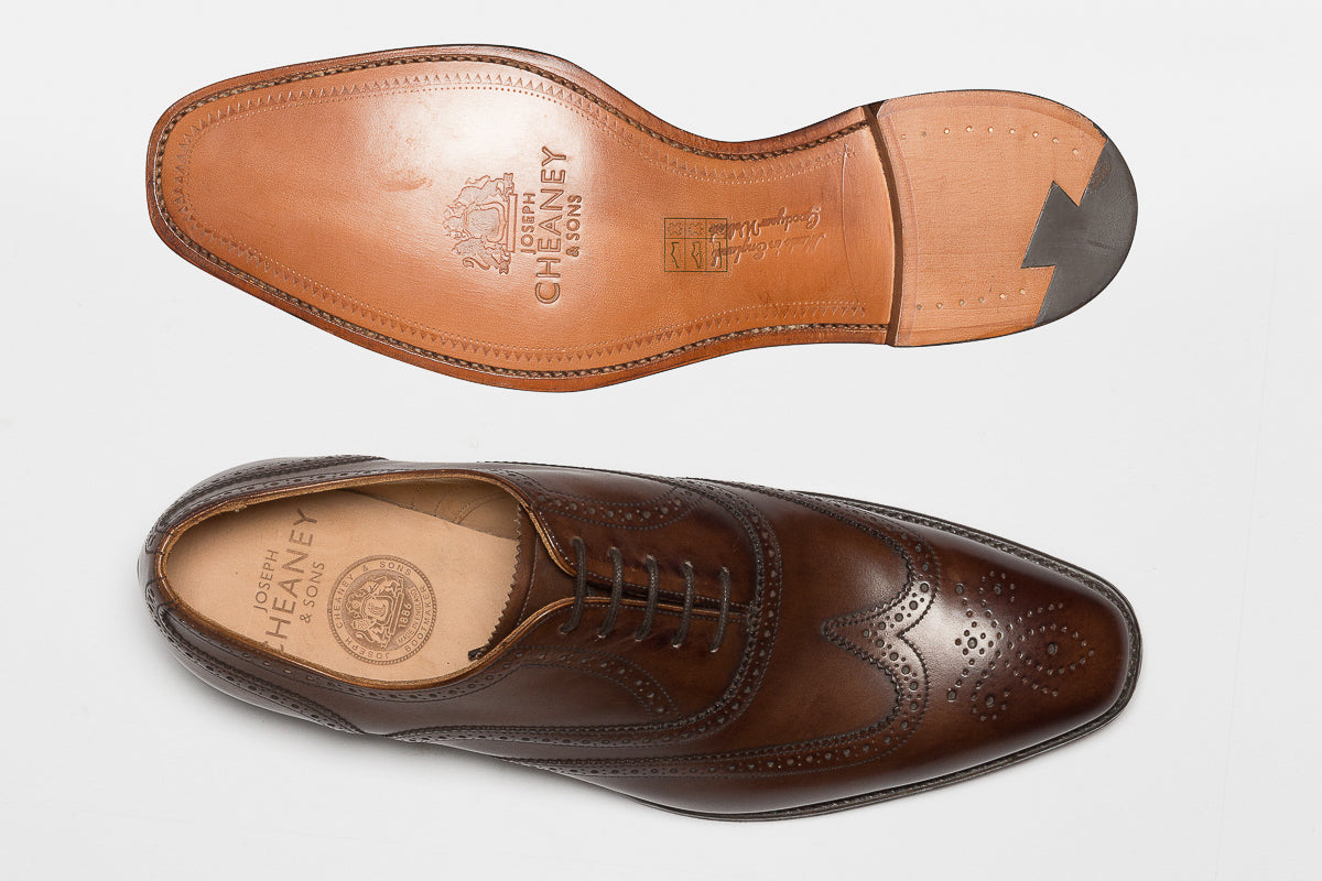 Cheaney Edinburgh Wing brogue in Burnished Mocha