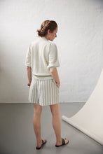 "Load image into Gallery viewer, Aiayu ""Lulu Tiny Stripe"" shorts Mix Pistacio"