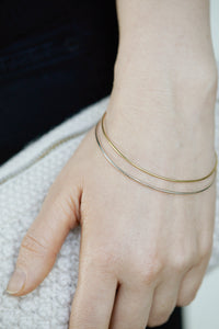 Nora bangle 14k Gold armbånd