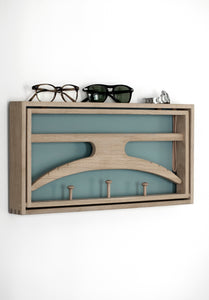 The Hanger, Soaped oak & grey blue