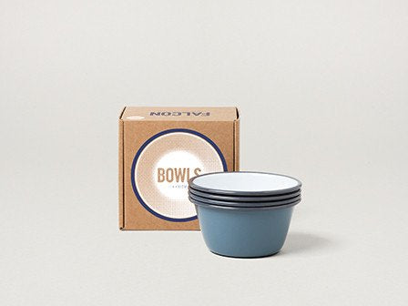Falcon Enamelware, Bowl Set Grey
