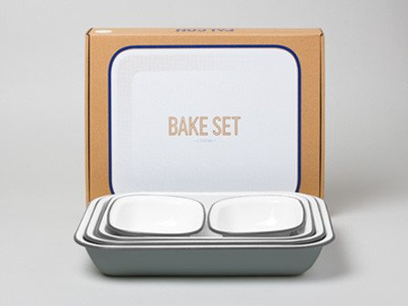 Falcon Enamelware, Bake Set Pigeon Grey