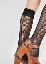 Load image into Gallery viewer, Swedish Stockings, Astrid net Knee-high Black OZ