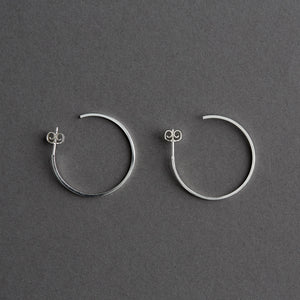 Miya hoop Silver 30mm, pair