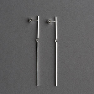 Ida ear pendant long Silver, pair