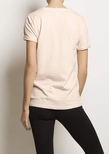 Organic cotton CORE T-SHIRT, Peach Pearl