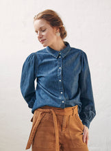 Load image into Gallery viewer, Hepburn puff shirt original denim
