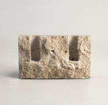 Load image into Gallery viewer, Snug candle holder:Bone white travertine - RAW