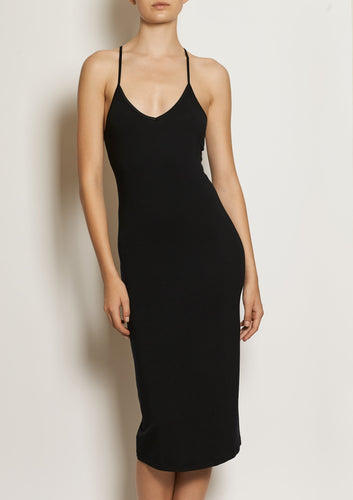 Slip dress SLIP MIDI- Black S