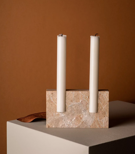 Snug candle holder: Beige Cenia - FLAMED