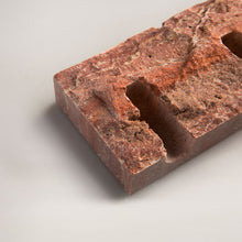 Load image into Gallery viewer, Snug candle holder: Red travertine - RAW