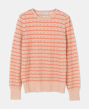 "Load image into Gallery viewer, Aiayu ""Tupile"" sweater Mix Pearl/Tomato"