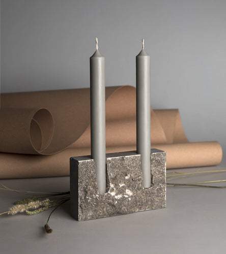 Snug candle holder: Grey Sant Vicenq - RAW