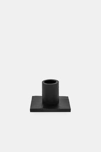 Square candle holder, Matt black