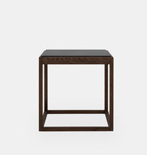 Load image into Gallery viewer, Cube Table, røket eik/Pietra grey marmor