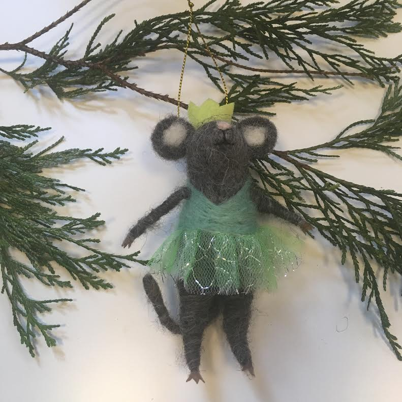 Felt Ballerina Mouse Ornament