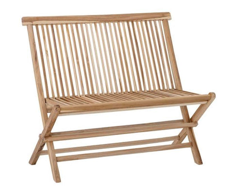 Teak Wood Folding Bench- PICK UP ONLY
