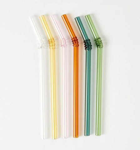 HAY 6 Glass Straws