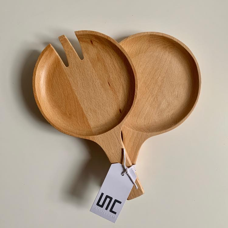 Beech Wood Salad Servers