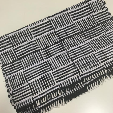 Black and White Cotton Mat