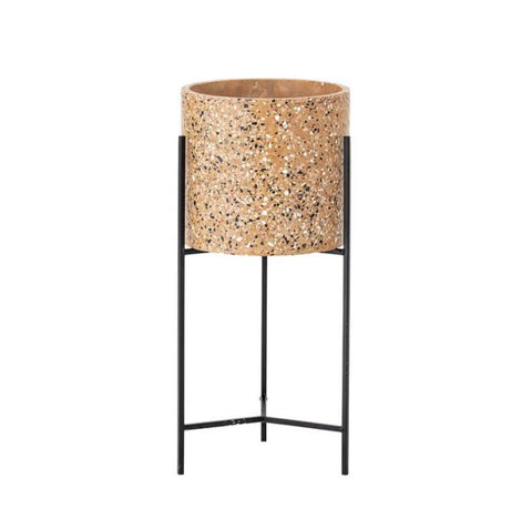 Terrazzo Planter with Metal Stand- Medium- PICK UP ONLY
