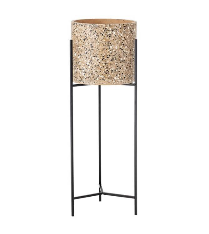 Terrazzo Planter with Metal Stand- Large   PICK UP ONLY